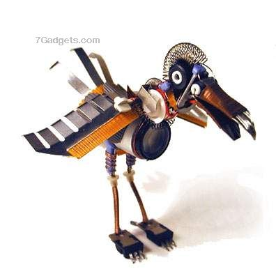 Robot animal sculptures