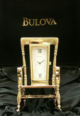 7 Bulova Luxury Miniature Clocks