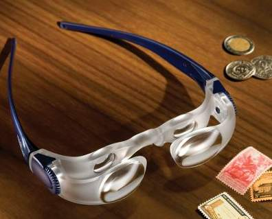 The Hands-Free Magnifying Glasses