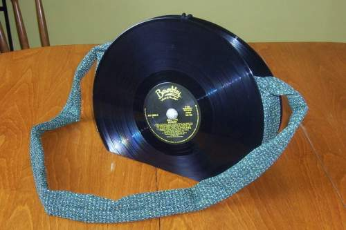 Recycled Album RECORD PURSE Bag handbag