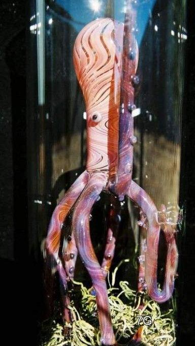 Octopus oil lamp