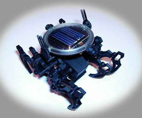 Spider is a solar robot