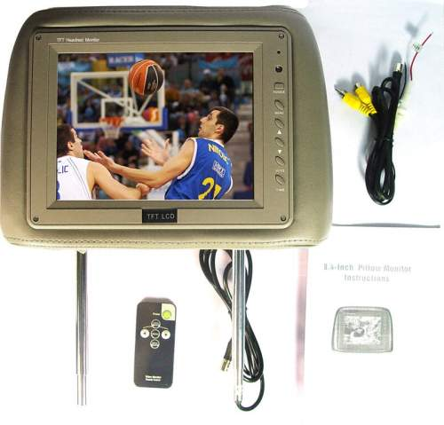 Headrest Car TV/Monitor with Pillow