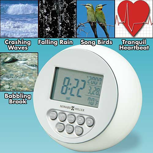 SOOTHING SOUNDS CLOCK</p> <p>