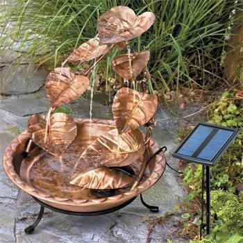 Solar Cascading Copper Fountain