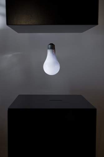 Light bulb levitating