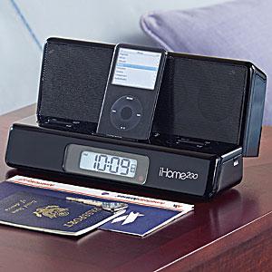 Travel Alarm Clock for iPod