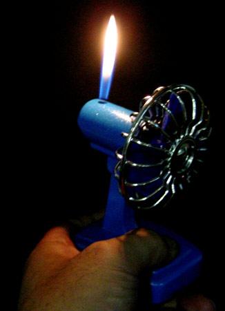 Electric fan lighter