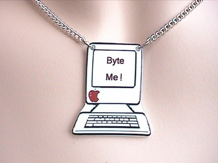 BYTE ME Computer Necklace