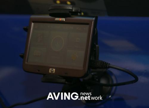 HP navigation device with 3D map