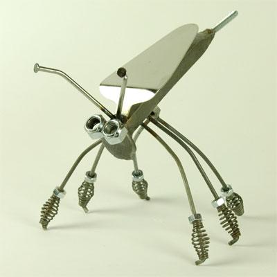 metal bug sculpture