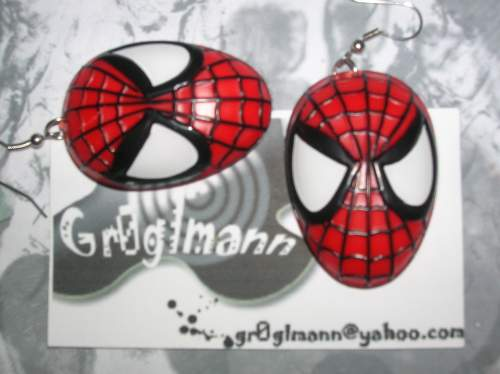 Super Hero Spider Man Earrings