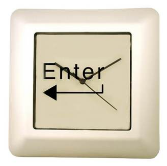 ENTER Command Key Wall Clock