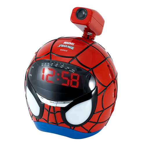 Spider-Man Projection AM/FM Clock Radio