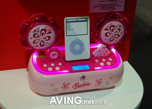 iPod docking system for barbie