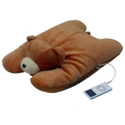 Bear Squishy Pillow-MP3 iPod Speaker