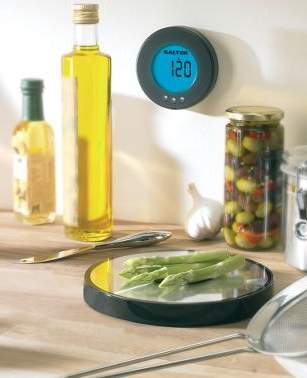 Wall-Mounted Digital Scale And Clock