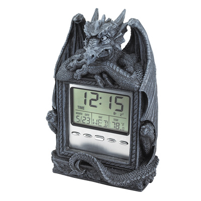 "Dragon's Time"" LCD Alarm Clock"