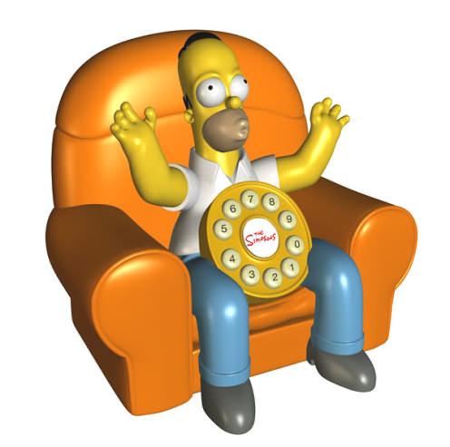 Simpson Animated Telephone