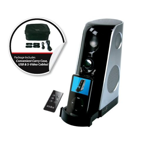 Portable Audio Device with Built in Subwoofer and Remote Control