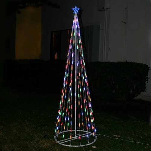 LED Christmas Cone Tree Multi-Colored