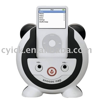 Audio System with Alarm Clock for ipod