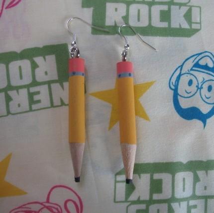 Pencil Geek Earrings