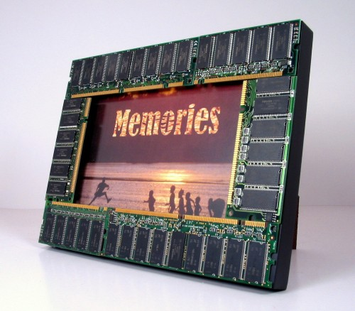 Computer Memories 5 x 7 Wooden Photo Frame