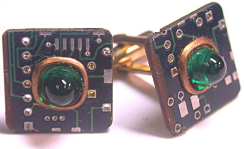 Recycled circuit board CUFFLINKS