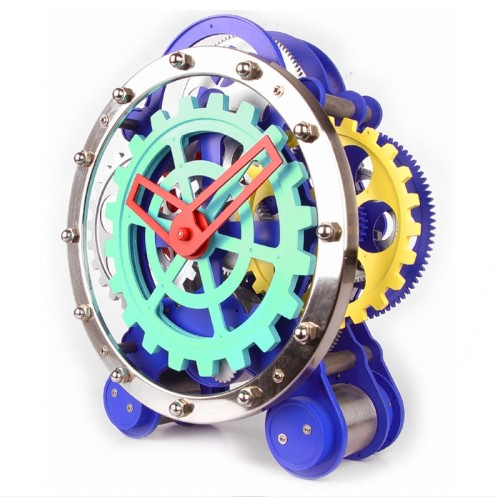 Visible Dual Gear Gadget Clock
