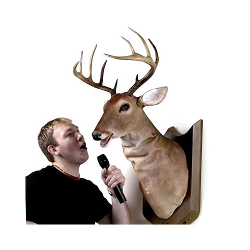 Buck the Animated, Singing Trophy Deer