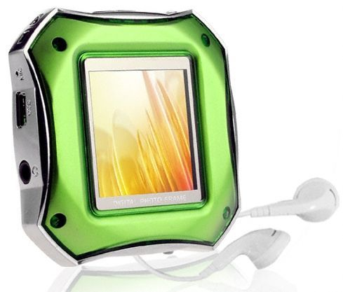Green MP3 Player and Digital Photo Frame
