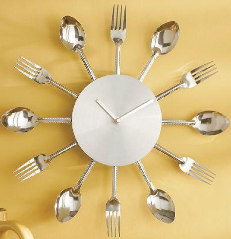 Flatware Clock