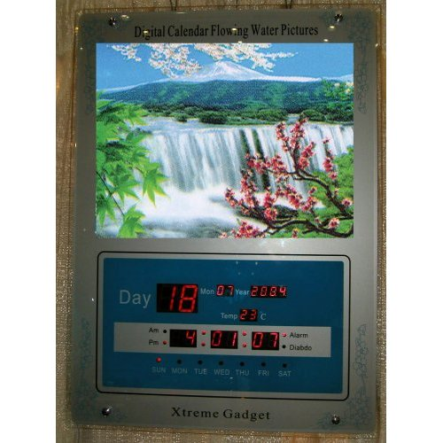 3D Stereoscopic Mt. Fuji Moving Picture Clock calendar
