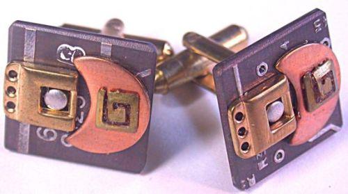 Recycled Circuit board elegant CUFFLINKS
