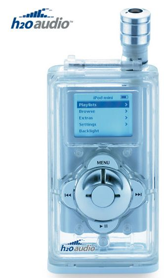 Waterproof Housing and Headphones for Apple iPod mini
