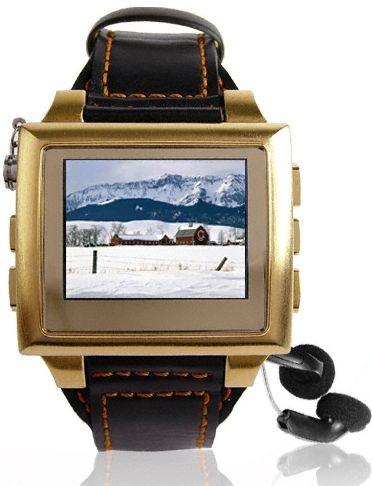 Gold MP4 Watch