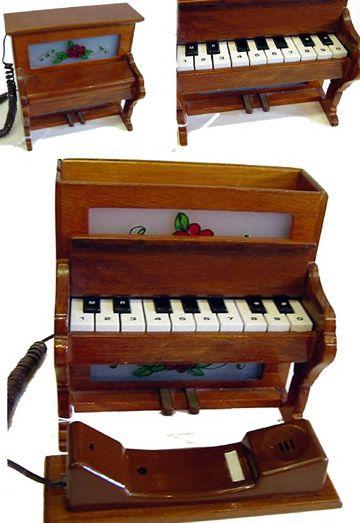 Wooden Piano Telephone
