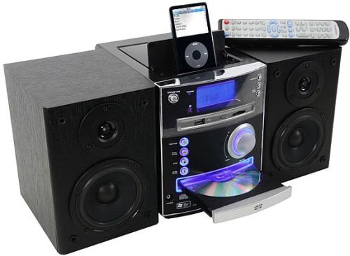 DVD Micro Music System with Built-in Universal Dock for iPod
