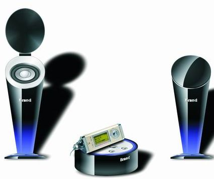 Mini Music System with Captivating Cup Shape