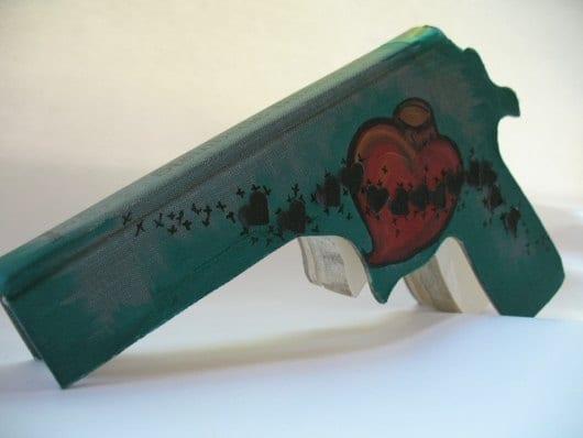 Bleeding Heart Book Gun
