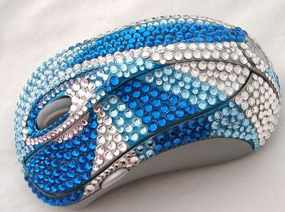Crystal Studded Computer Mouse