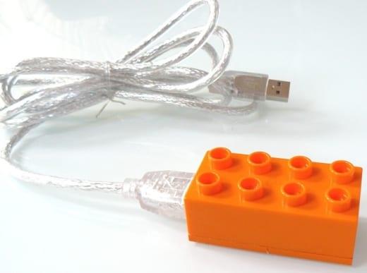 micro memory drive in a LEGO Duplo
