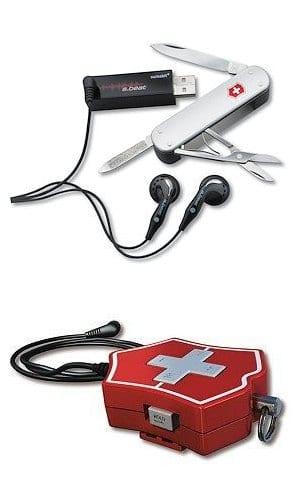 Swiss Army 1GB Flight MP3/FM/Knife/Memory