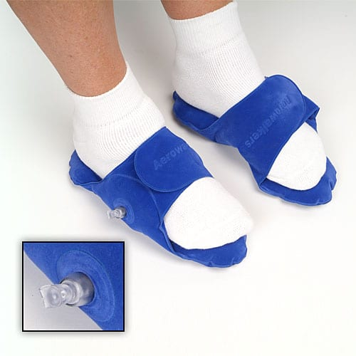 Inflatable foot cushions