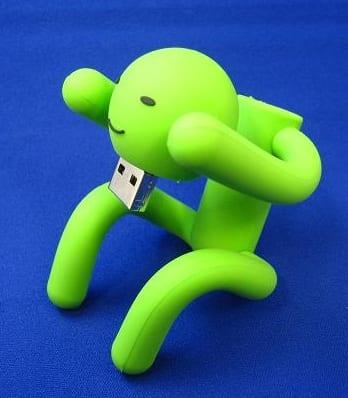 USB memory is a green man