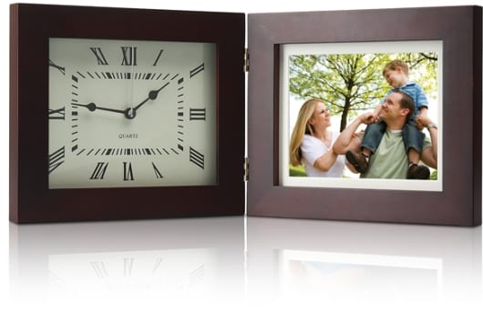 "Deluxe 8"" Digital Photo Frame & Clock with Multimedia Playback"