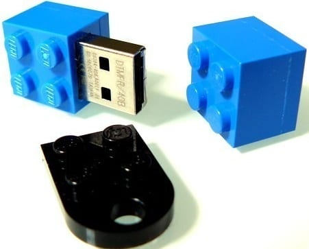 USB flash memory stick lego brick