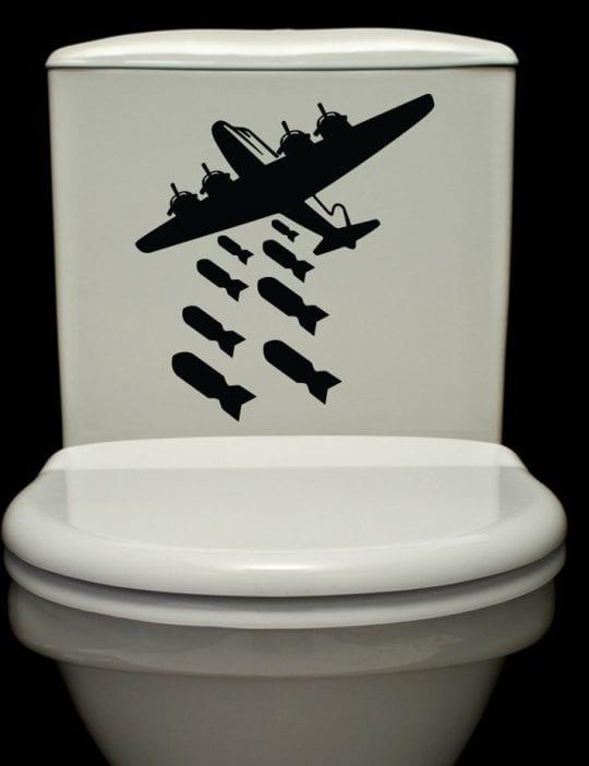 Bombs Away - Vinyl Decals - Toilet - Wall