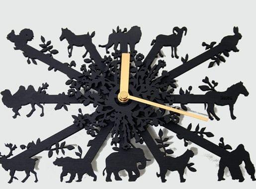 Animal Clock Square Mini